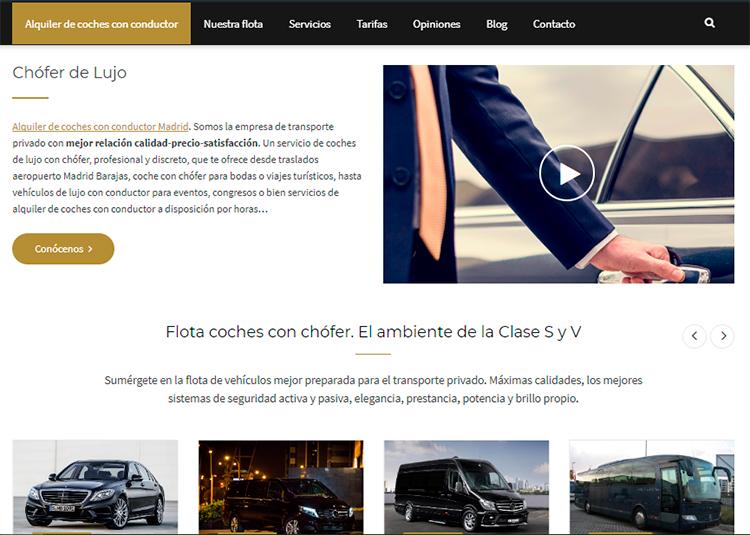 alquiler de coche con conductor madrid nueva web