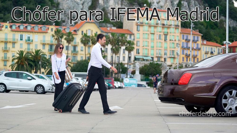 Coche con chófer privado para IFEMA. La mejor elección.