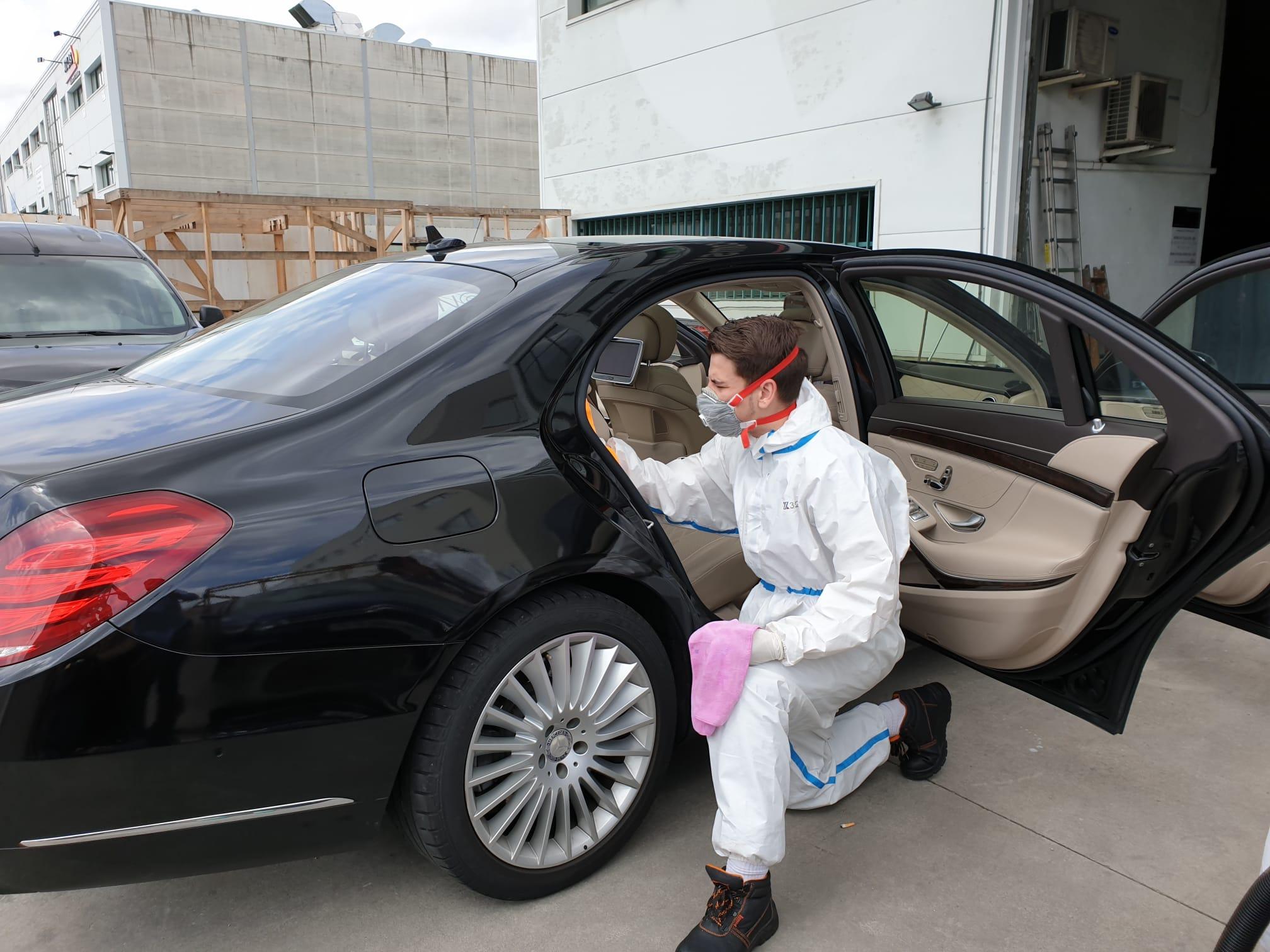 coches con chofer desinfectados madrid
